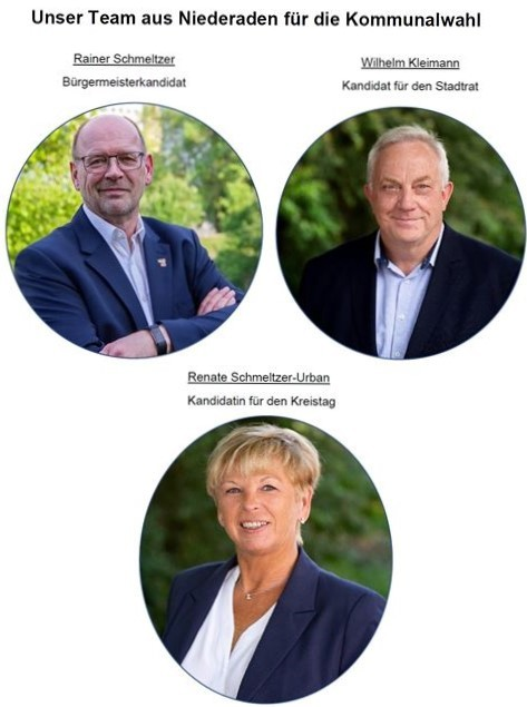 Das Team aus Niederaden für die Kommunalwahl